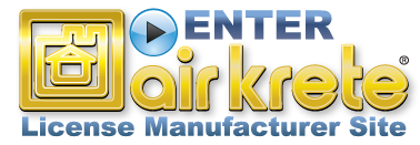 Enter Air Krete Licensed Manufacturer's Site